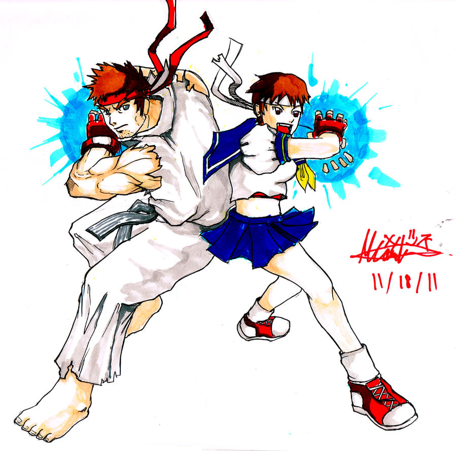 [FLT III] Grupo 2: RUGAR VS ZOGRIEL (GANADOR: ZOGRIEL) Ryu_sakura___master_and_pupil___hadkouken_by_kitsune0978-d4gt8qj