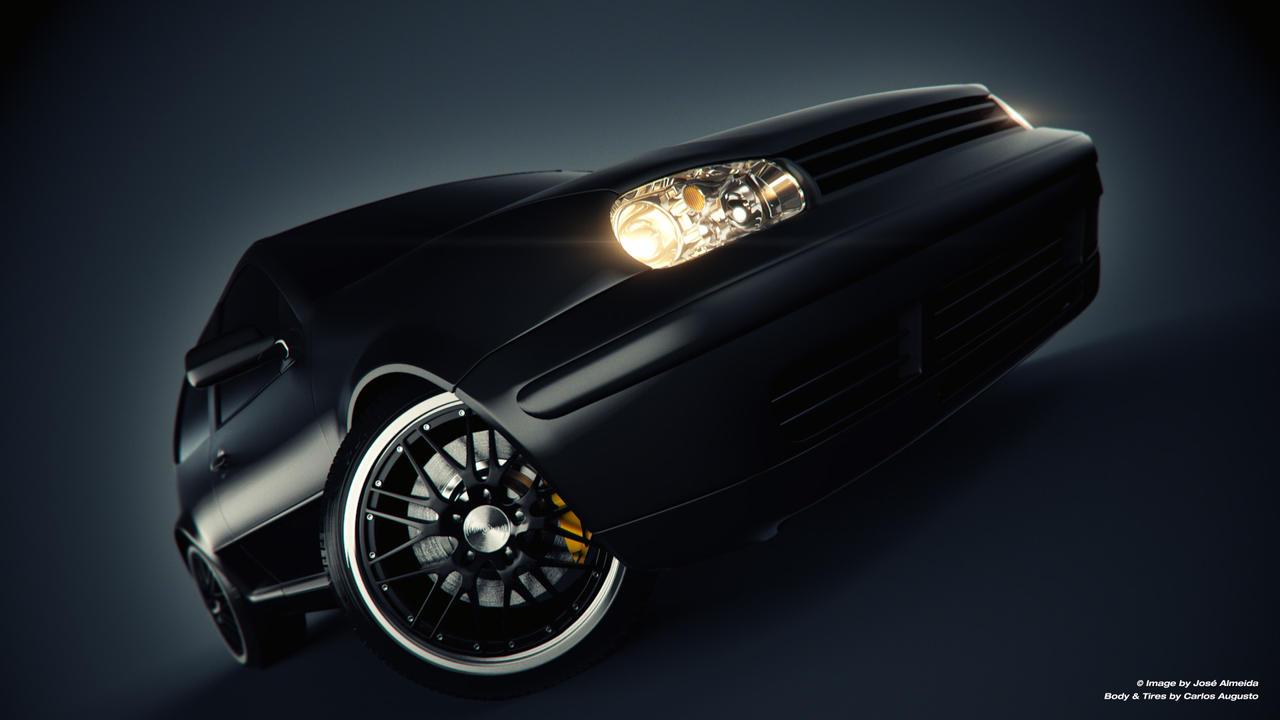 VW Golf - Black by JaNightmare