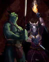 Dragons in the depths by Negger/crisjofreart by RazenHashikado