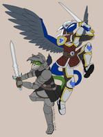 Razen and Beren, Have at thee!  By Chiltikcoatl by RazenHashikado