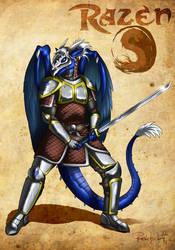 Battle-ready Razen by ReptileCynrik by RazenHashikado