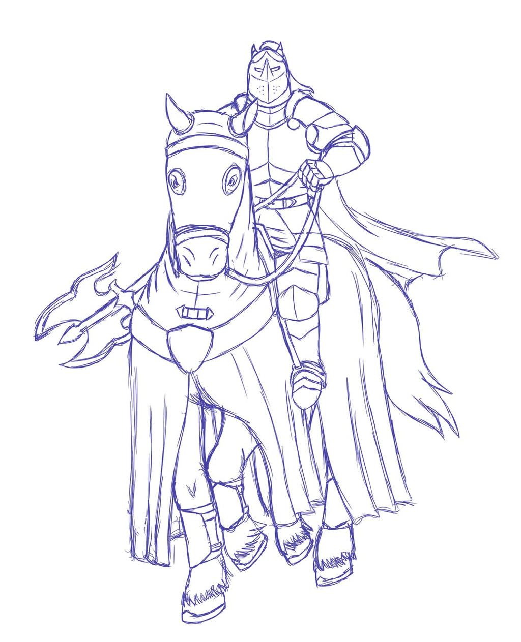 Lars on horse sketch
