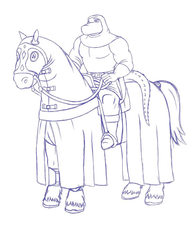 Zobek Horseback Sketch by RazenHashikado
