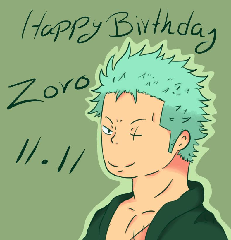 Happy Birthday Zoro By Ally-Nad On DeviantART