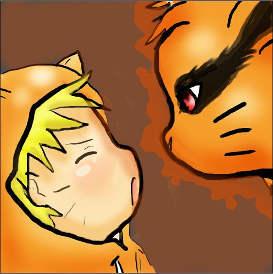 Chibi Naruto and Kyuubi by kioku-no-kitsune on DeviantArt