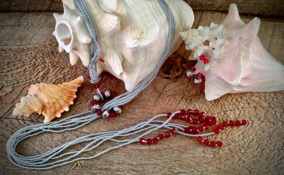 Silver Pomegranate Set