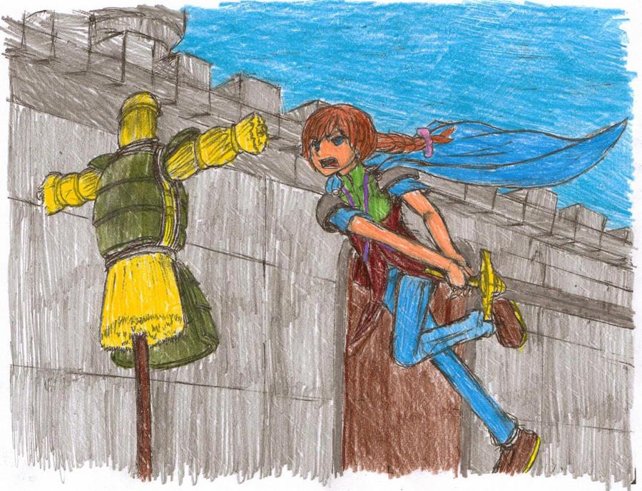 Female Knight (colored) by SailorSun1998