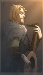 Bragi | God of poetry by SaharaBern