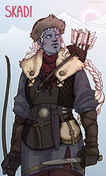 Skadi | Goddess of bowhunt and winter by SaharaBern