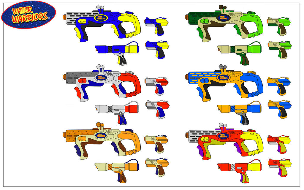 water gun color options by rob cavanna