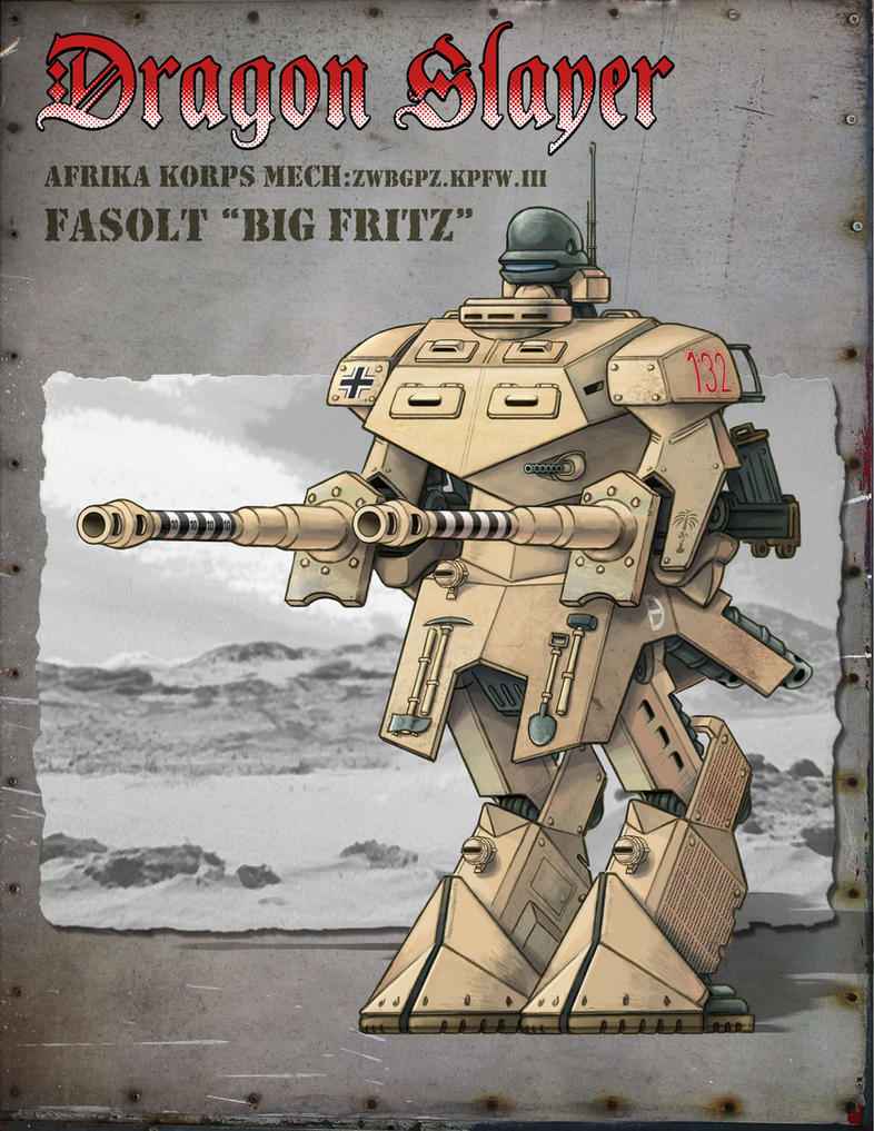 Afrika Korps Mech -WIP by Rob-Cavanna