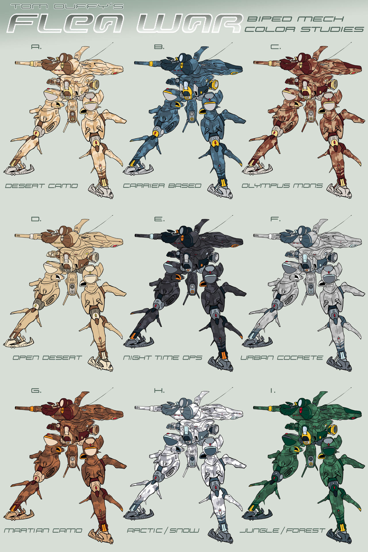 Mech Collab - Color Ops by Rob-Cavanna