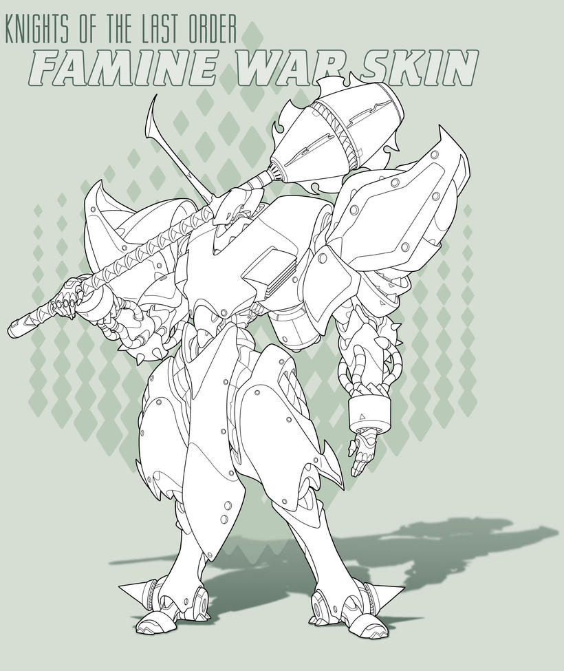 Famine WS -Line  Art by Rob-Cavanna