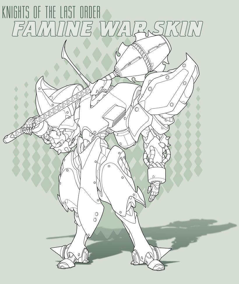 Famine WS -Line  Art by Rob-Cavanna