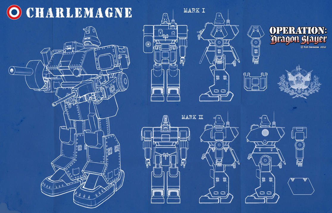 Charlemagne mech schematics by rob cavanna on deviantart charlemagne mech schematics by rob cavanna malvernweather Images