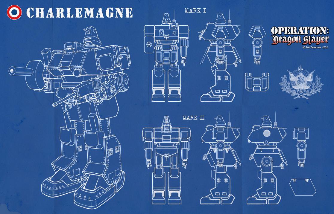 Charlemagne Mech Schematics by Rob-Cavanna