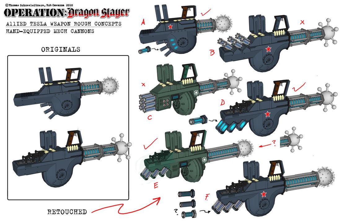 Dieselpunk Weapons Aliied tesla weapon conceptsDieselpunk Weapons