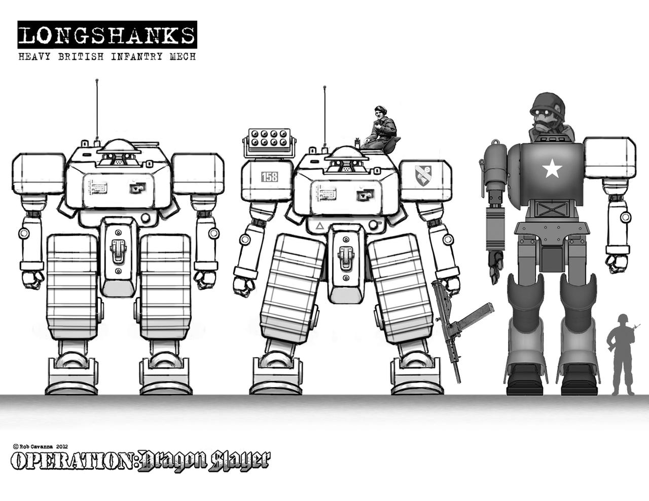 Heavy Brit Mech Concept. by Rob-Cavanna