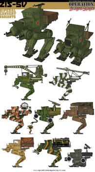 Soviet Zis-5v Bipedal Conversion Variants