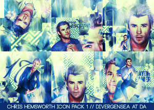 Chris Hemsworth Icon Pack 1 by divergensea