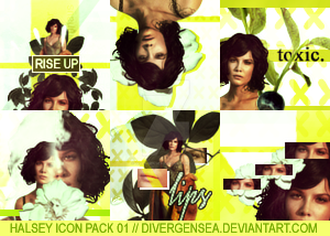 Halsey Icon Pack 01 by divergensea