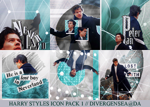 Harry Styles Icon Pack 1 by divergensea