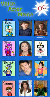 The voices for my four kids! (Voice Actor Meme)