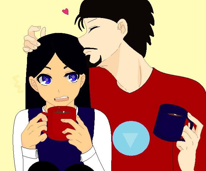 Coffee with Tony by RoseandherThorns