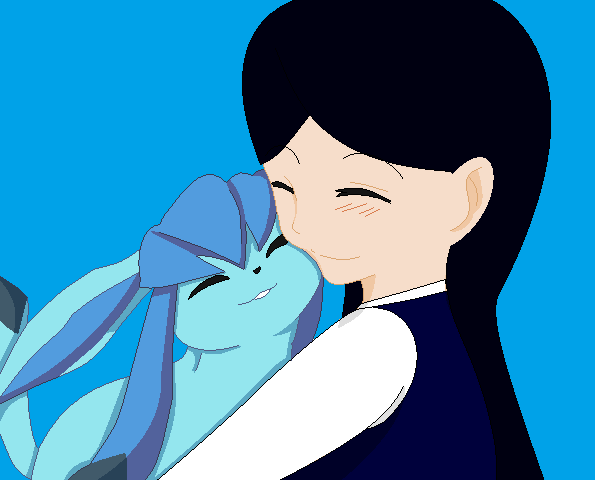 Sister and Glaceon by RoseandherThorns