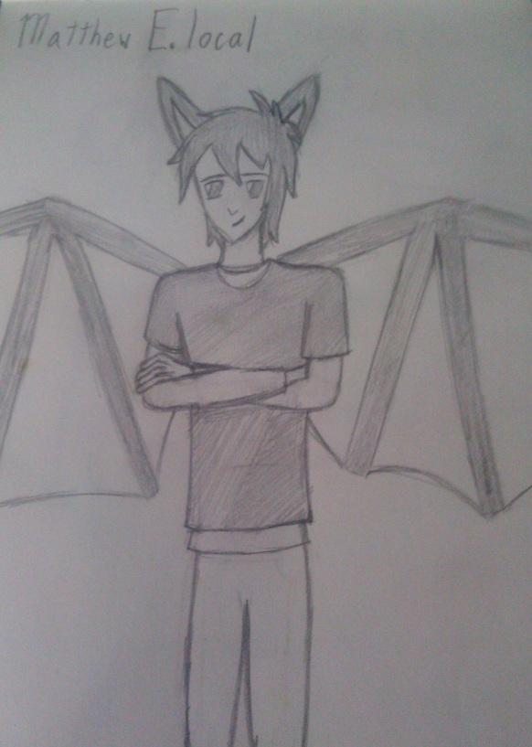 Minecraft Batboy by RoseandherThorns