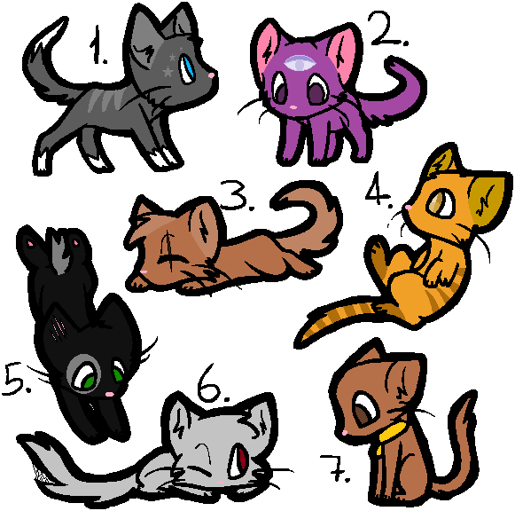 Cat adoptables open by RoseandherThorns