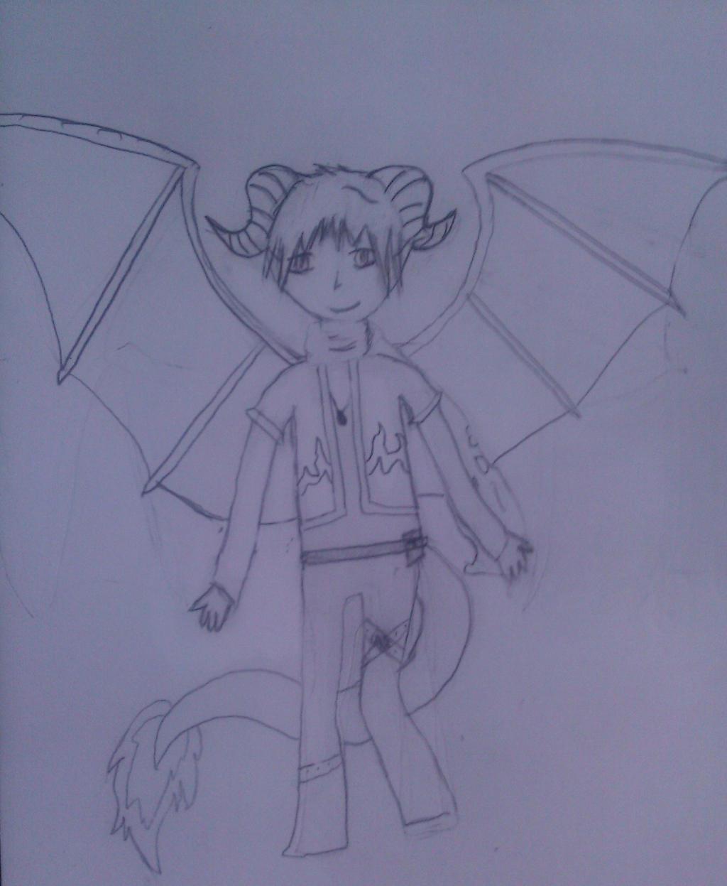 Aiden sketch by RoseandherThorns