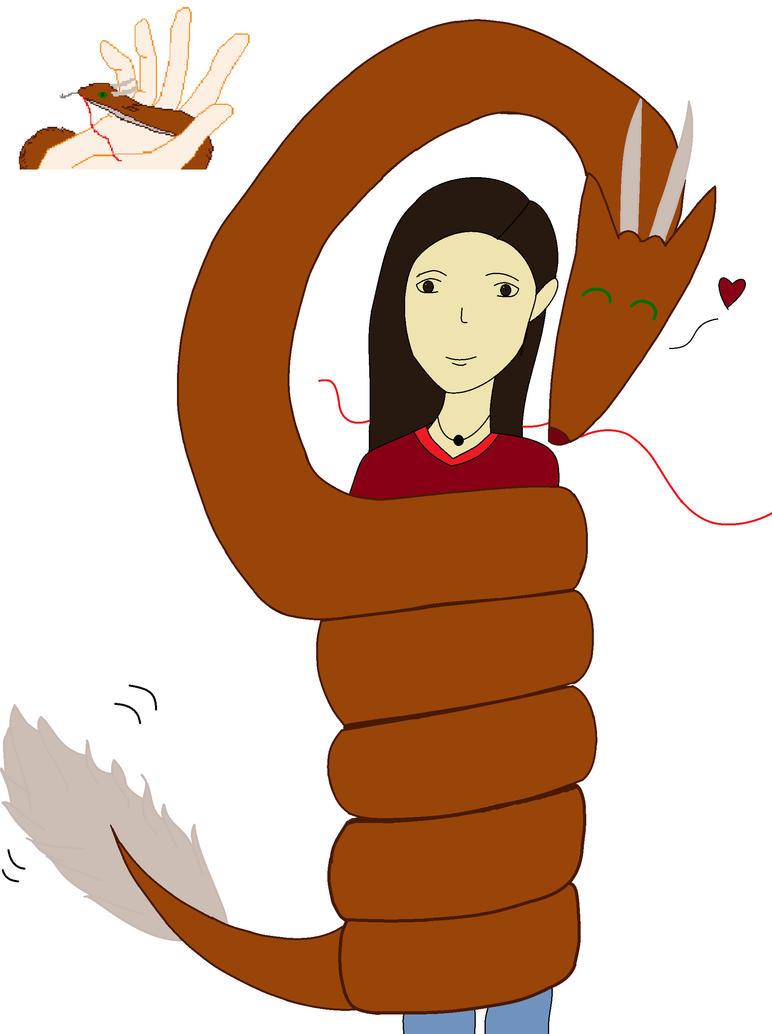 Me and Kurama by RoseandherThorns