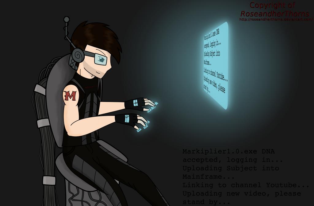 Cyberpunk Markiplier by RoseandherThorns