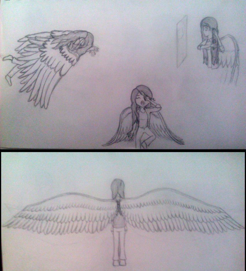Rose practice drawings by RoseandherThorns