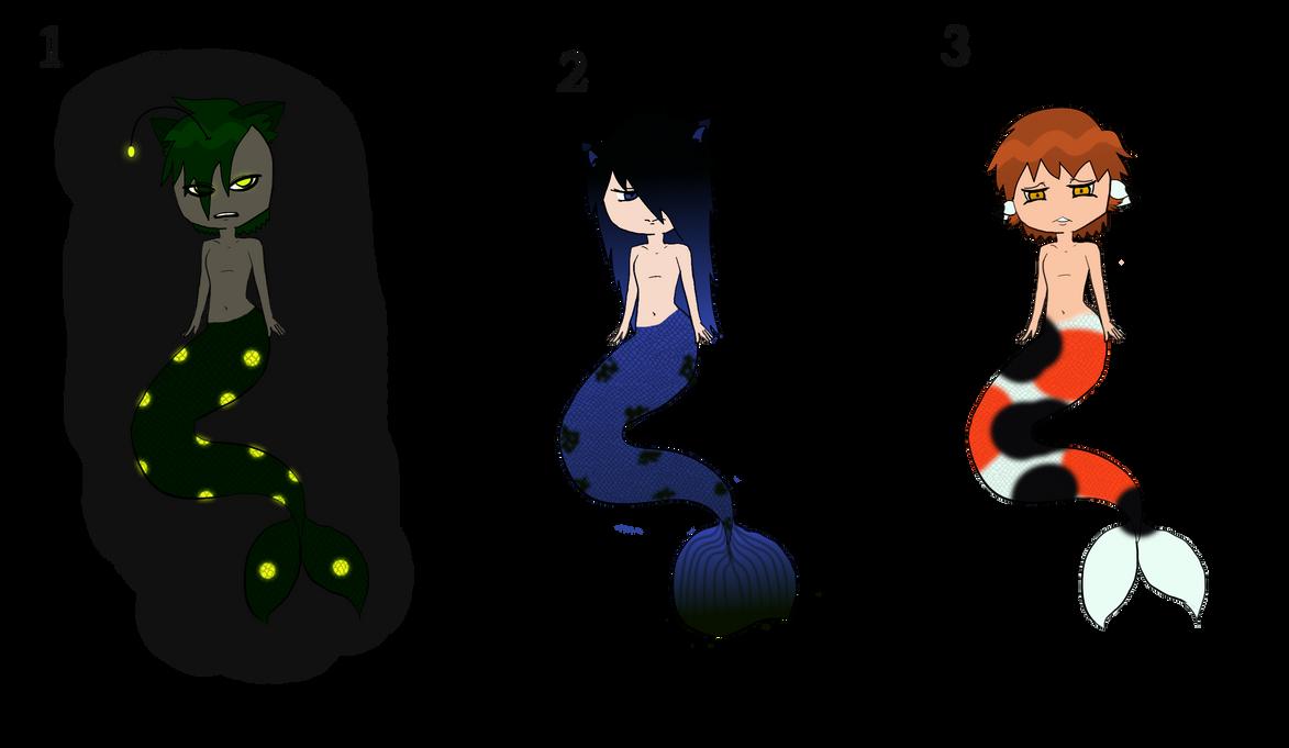 Neko-mermen Adopts CLOSED by RoseandherThorns