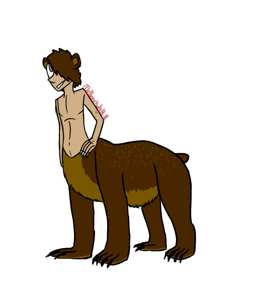Beartaur for OrangeSoulDarcy by RoseandherThorns