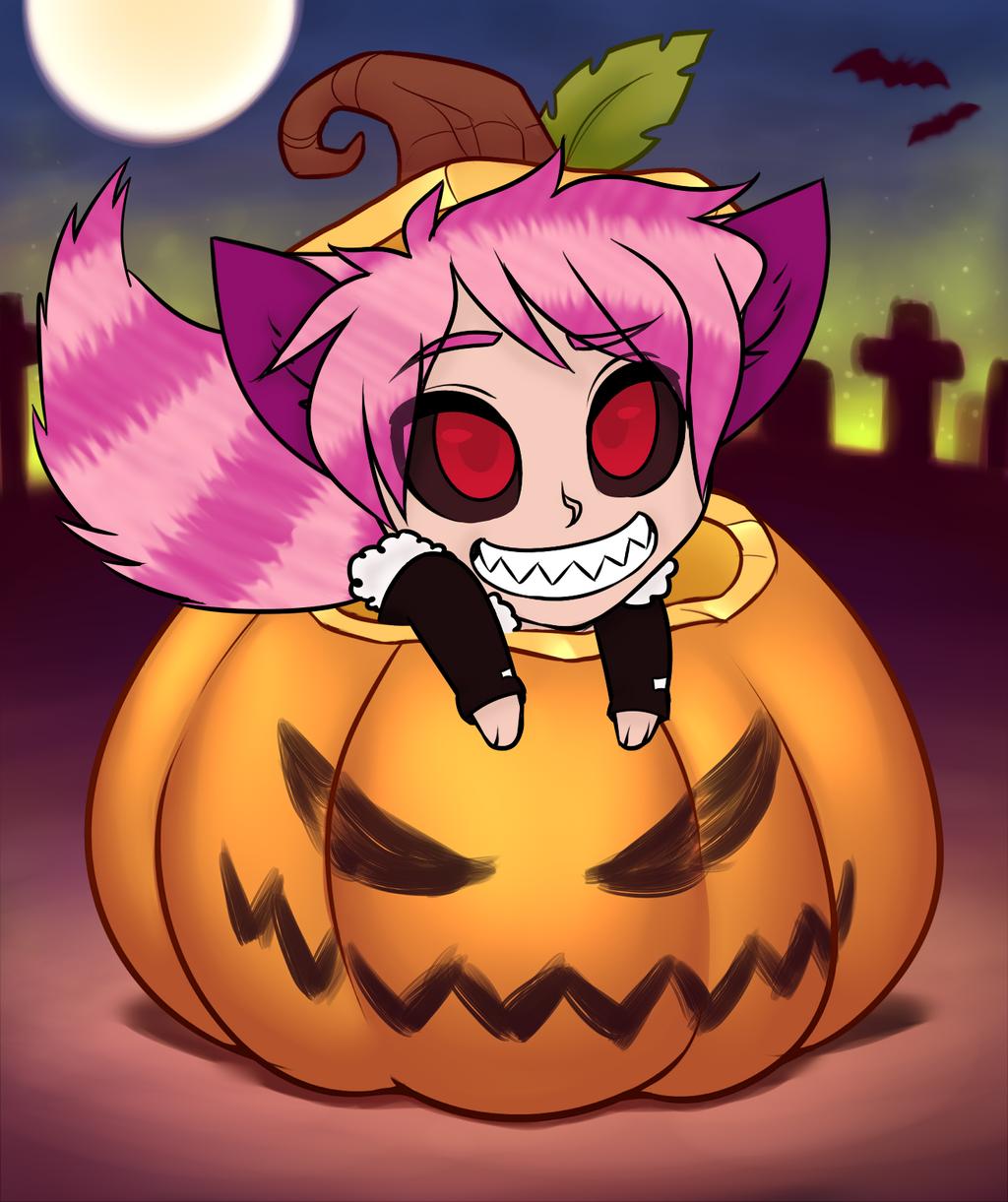 Belphagor in a pumpkin by RoseandherThorns