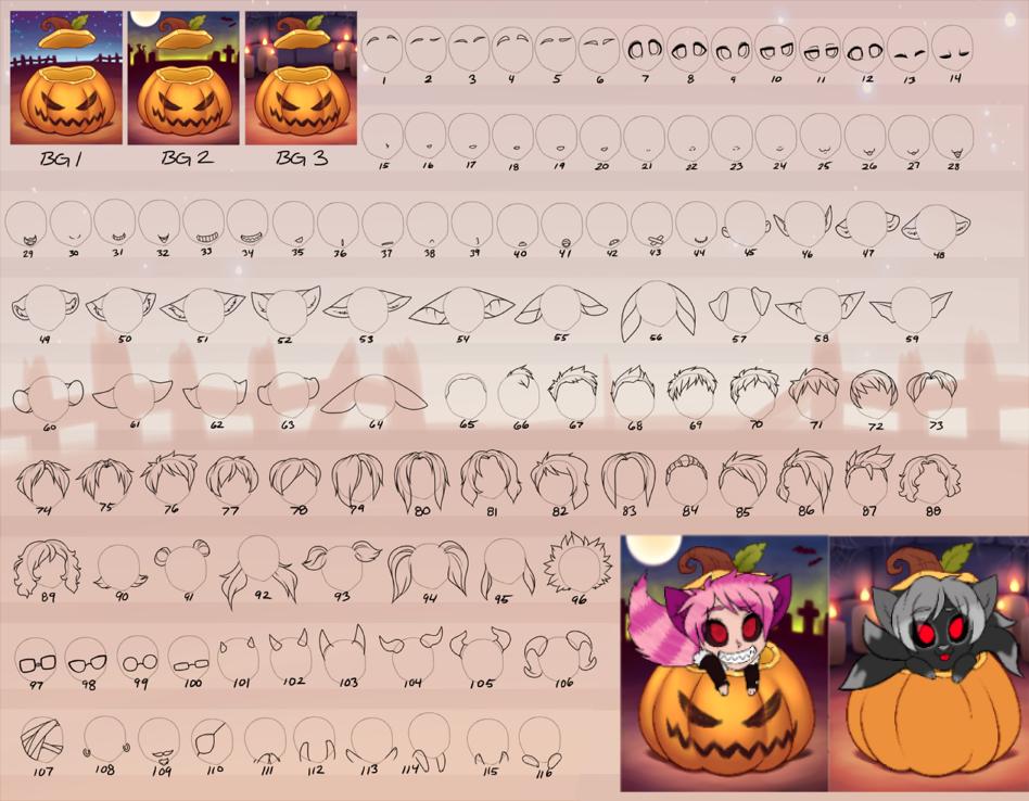 Pumpkin YCHs -CLOSED- by RoseandherThorns