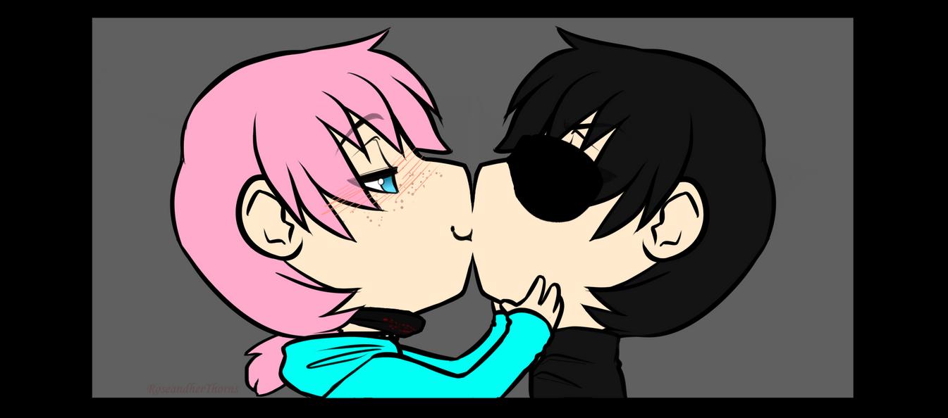 Kiss Kiss YCH2 by RoseandherThorns