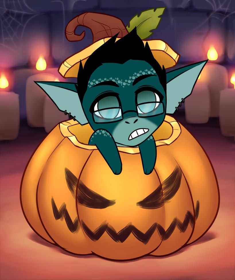 Pumpkin Chibi Adopt by RoseandherThorns