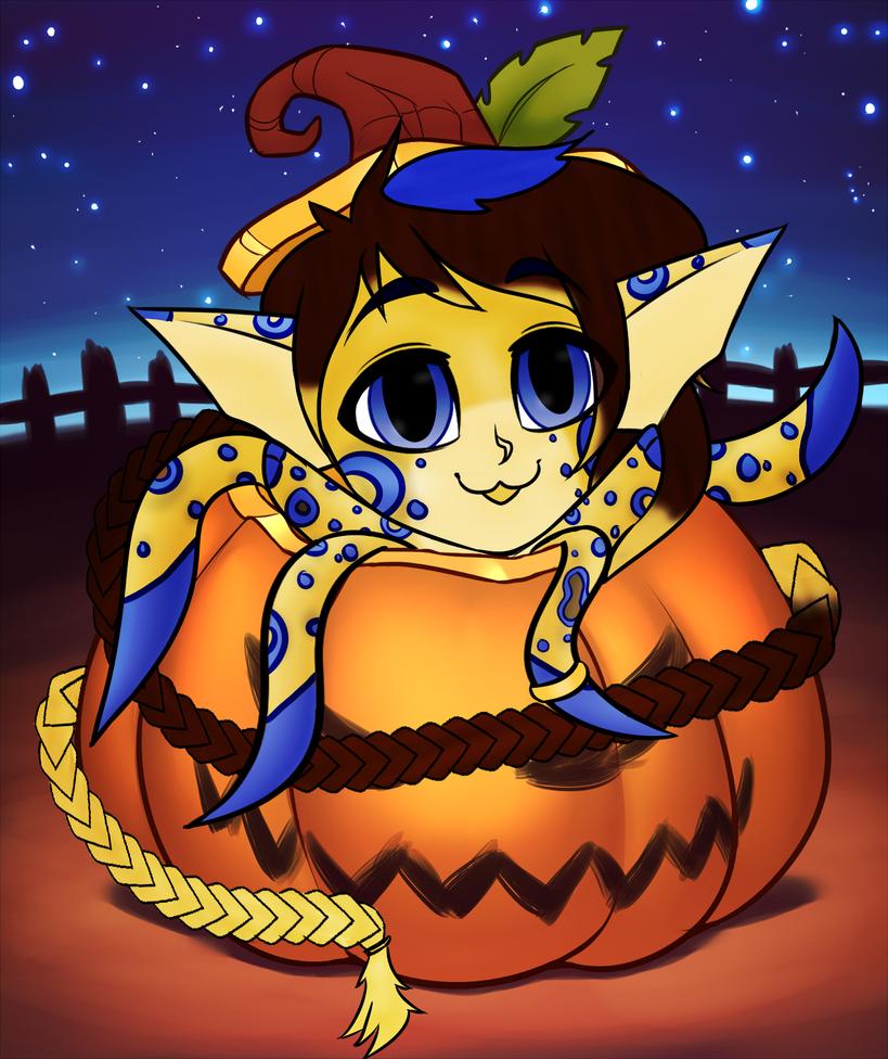 Louie pumpkin YCH by RoseandherThorns