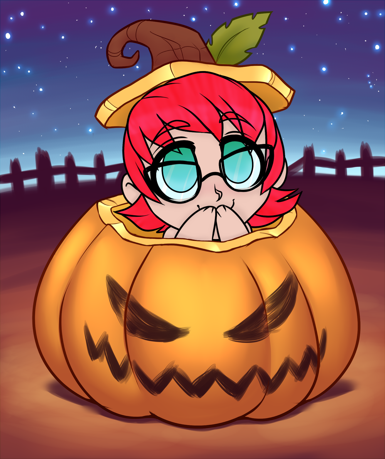 Juuri Pumpkin YCH by RoseandherThorns