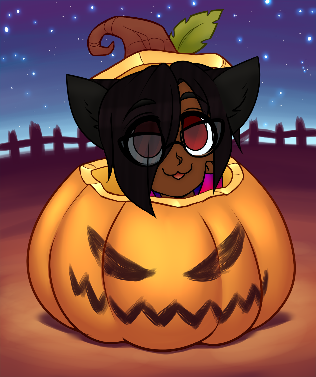 Dia Pumpkin YCH by RoseandherThorns