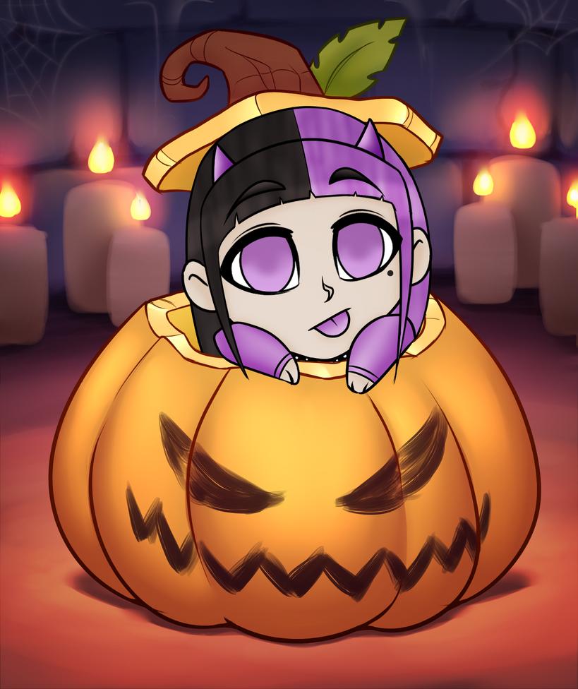 Pandora Pumpkin YCH by RoseandherThorns