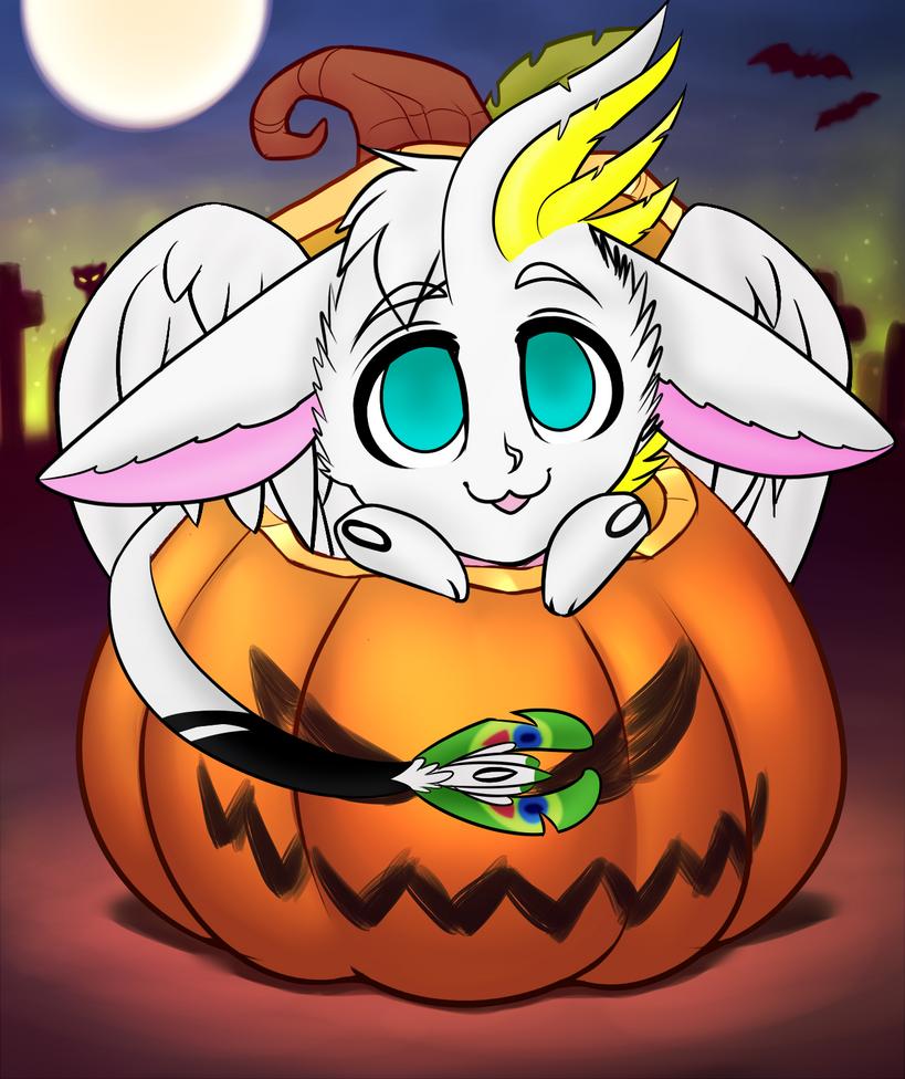 Capillary Pumpkin YCH by RoseandherThorns