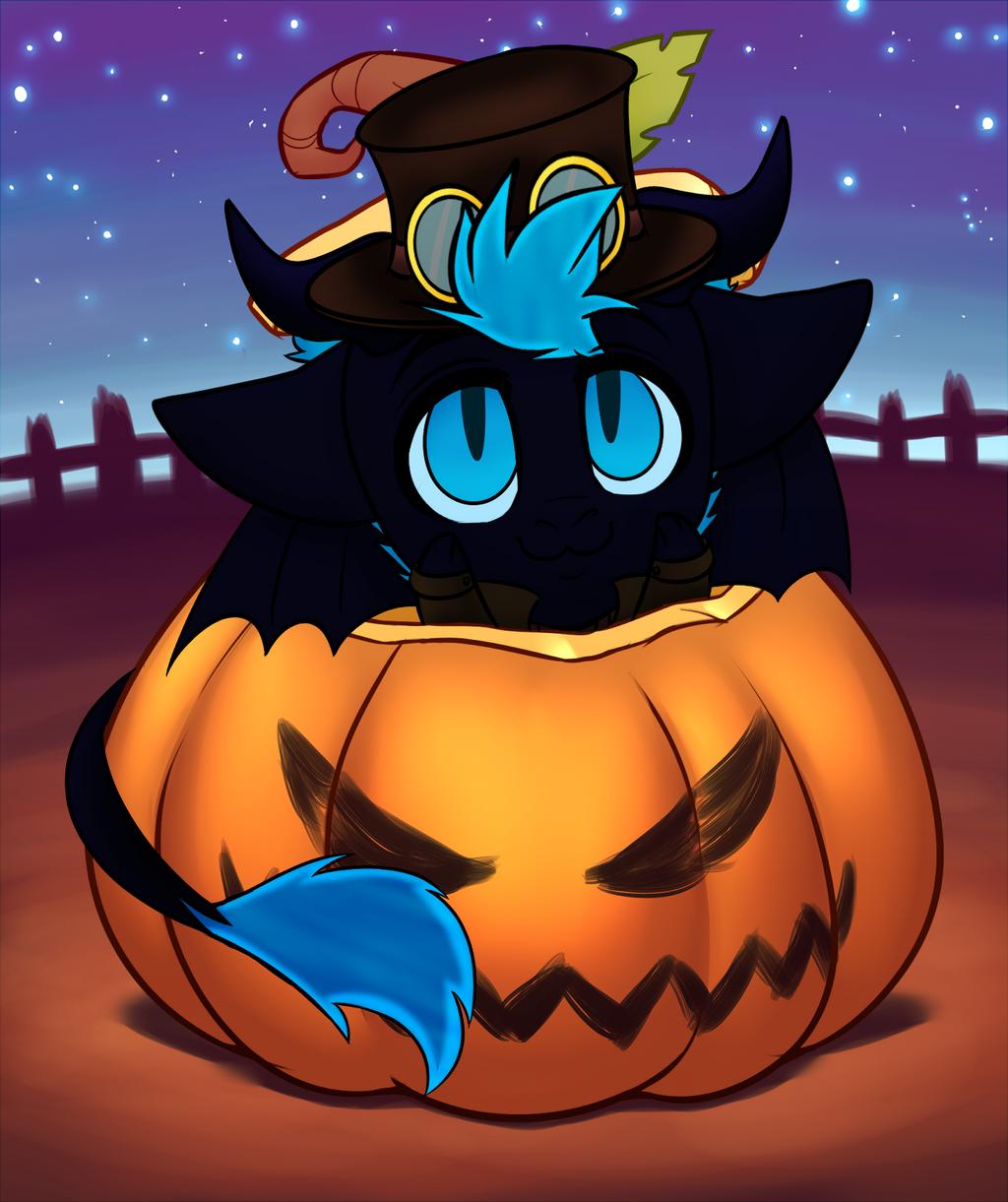 Starfire Pumpkin YCH by RoseandherThorns