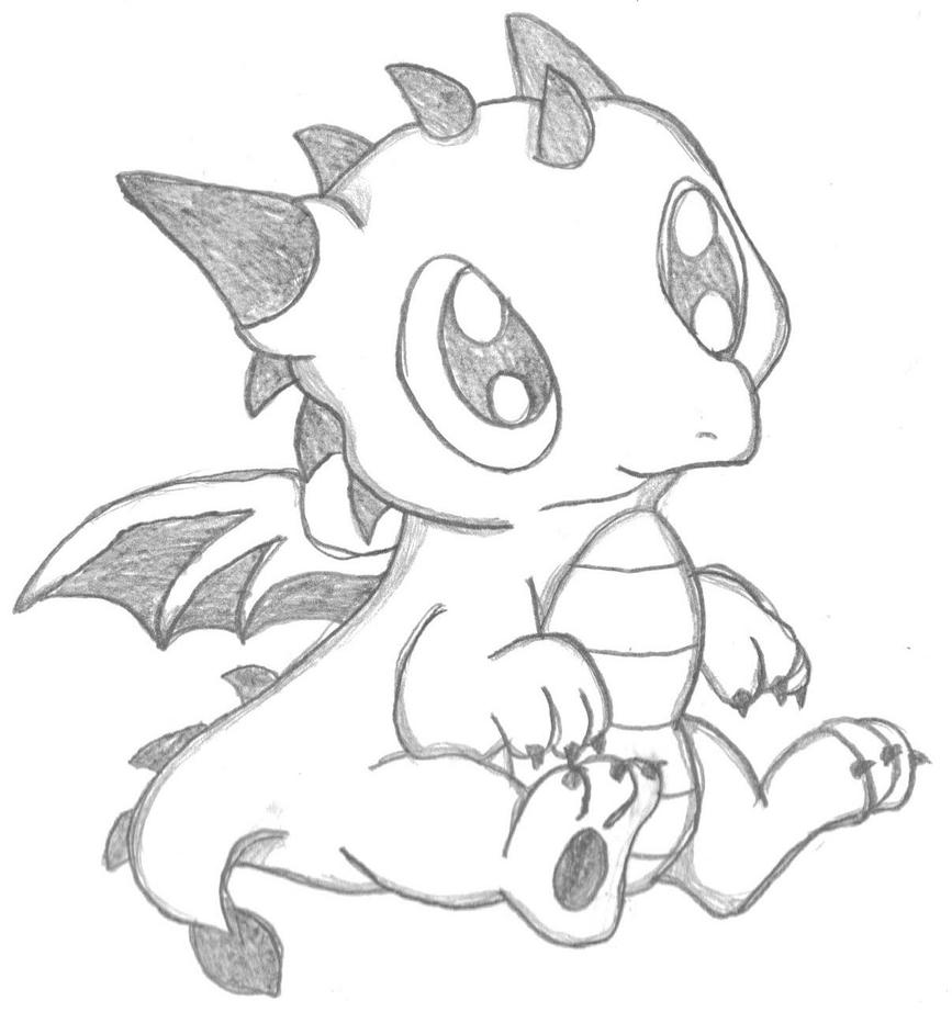Chibi dragon by crystal2riolu on deviantart for Cute hard drawings