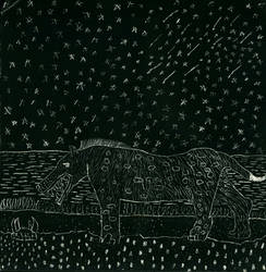 Andrewsarchus under Starry Sky