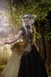 Magic Forest Lady 7 By Jumeria + BG Fantasy Forest